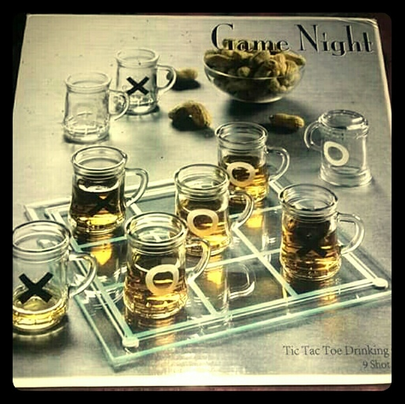 game night Other - Beer Mug Shot Glass Tic-Tac-Toe Game!